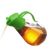 SIMELO(施美乐)首尔风情调料瓶自开启防漏玻璃油壶550ML(绿色)