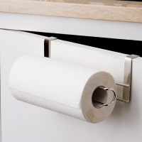 欧润哲 纸巾架 不锈钢橱柜门免钉无痕卷纸挂架