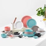 亿嘉IJARL 创意韩式陶瓷碗盘碗筷碗碟套装46头简约创意礼盒餐具 马卡龙