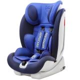 安默凯尔 汽车儿童安全座椅isofix硬接口 9个月-12岁宝宝座椅 超级盾 宫廷蓝