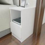 美宜德曼 床头柜 25CM厘米窄床头柜 简约抽屉式小床头柜 圆角床边柜?