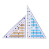 日本国誉(KOKUYO)学生文具三角尺套组 透明网格型 10cm 2把装 GY-GBA210