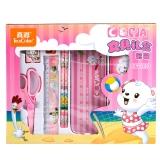 真彩(TRUECOLOR)小学生文具礼盒女 儿童文具礼盒 学习用品 7件套时尚礼包 粉色/CY1220