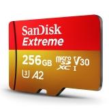 闪迪(SanDisk)256GB TF(MicroSD)存储卡 U3 V30 C10 4K A2 至尊极速移动版 读速160MB/s 写速90MB/s