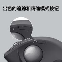 罗技(Logitech)MX ERGO 鼠标 无线蓝牙鼠标 办公鼠标 人体工学设计 优联 轨迹球 深灰 带无线2.4G接收器