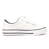 回力(Warrior) 童鞋低帮魔术贴运动鞋板鞋儿童帆布鞋 WZ-601 白色 30
