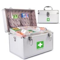 Vilscijon维简医药箱家用急救箱出诊箱医疗收纳箱带锁铝合金家庭药箱12英寸多层箱子 3311
