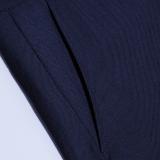 南極人(Nanjiren)男士西褲職業商務正裝休閑免燙西服褲子 藏青常規款 35碼 xk001