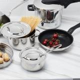 WMF锅具三件套煎锅奶锅汤锅组合厨具德国不锈钢燃气灶电磁炉通用