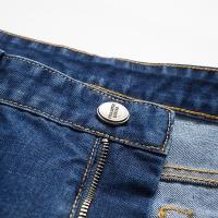 南極人男士時尚潮流百搭舒適牛仔褲N5深藍35