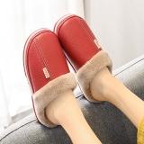 酷趣Coqui 简约舒适防水加厚保暖棉拖鞋女款 酒红37-38 CQ2211