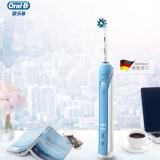 欧乐B(Oralb)电动牙刷 3D声波震动充电式牙刷(自带刷头*2)P2000蓝 博朗精工 带着爸爸去留学同款