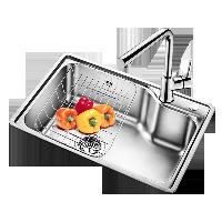 欧琳 OULIN OLJD613厨房水槽套餐 304不锈钢洗菜盆洗碗池 水池大单槽