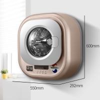 大宇(DAEWOO)XQG30-888G 韓國進口小型壁掛式嬰兒洗衣機 迷你全自動變頻兒童寶寶內衣專用 香檳金