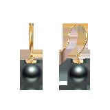 大溪地黑珍珠耳饰(多款可选)优雅挂钩款*9-10mm