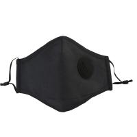北诺(BETONORAY)口罩男潮防雾霾防尘PM2.5呼吸阀棉质口罩女士非一次性防晒口罩 黑色(含10片滤片)