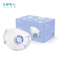LIFAair 自吸过滤式防雾霾口罩 防尘防工业粉尘病菌 儿童口罩 蓝色(5只装)