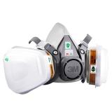 3M 防护面具升级版6200防毒面具面罩防化工喷漆防尘中号(新老包装随机发放)