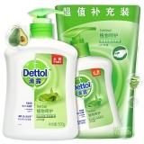 滴露Dettol 健康抑菌洗手液 植物呵护 特惠装 500g/瓶 送 300g补充装 易冲洗