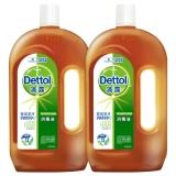 滴露Dettol 消毒液 1.2L*2  殺菌除螨 兒童寶寶內衣 家居室內 寵物貓狗環境消毒 非84消毒水 衣物除菌劑