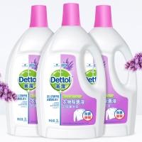 滴露(Dettol)衣物除菌液 舒缓薰衣草3L*3(整箱销售)  杀菌除螨消毒液 孕妇儿童 与洗衣液、柔顺剂配合