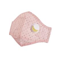 北诺(BETONORAY)口罩男潮防雾霾防尘PM2.5呼吸阀棉质口罩女士非一次性防晒口罩 粉点点(含10片滤片)