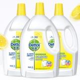 滴露 Dettol 衣物除菌液 清新檸檬3L*3 高效殺菌除螨消毒液 孕婦兒童內衣內褲一起洗 與洗衣液 柔順劑配合