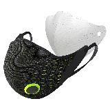 AIRPOP 小米生态链 Active动感PM2.5防尘防雾霾防花粉透气冬季保暖运动口罩 男女款 黑黄色