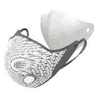 AIRPOP 小米生态链 Active动感PM2.5防尘防雾霾防花粉透气冬季保暖运动口罩 男女款 白灰色