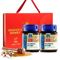 蜜纽康 (Manuka Health)红色花语节庆年货礼盒(MGO83+)麦卢卡花蜂蜜375g*2瓶