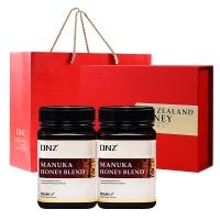 新西兰进口 DNZ尊享中国红蜂蜜礼盒 天然混合麦卢卡蜂蜜500g*2瓶 年货礼盒