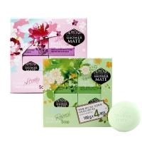 爱敬 玫瑰樱花香、 橄榄绿茶香皂  ,100g*8