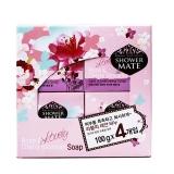 爱敬 玫瑰樱花香皂,100g*4