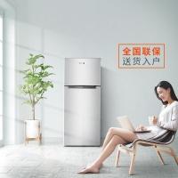 奥马(Homa) 118升 双门小冰箱 家用小型两门电冰箱 宿舍 租房 办公室 迷你节能 PS6环保内胆 银色 BCD-118A5
