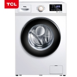TCL 8公斤 变频全自动滚筒洗衣机 羽绒服洗 中途添衣 节能静音 8种洗涤程序高温除菌(芭蕾白)XQG80-P300B