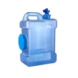 拜杰(Baijie)纯净水桶矿泉水桶方形带龙头饮用茶台吧机水桶自驾游手提户外 12L
