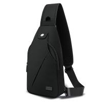 天逸TINYAT胸包男斜挎包休闲单肩包跑步骑行包运动包单肩包T609黑色