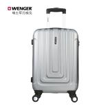 瑞士军刀威戈(Wenger)商务密码锁拉杆箱 24英寸旅行箱行李箱男女 银色(SAX631117107068)