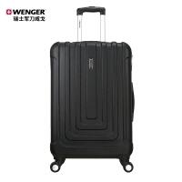 瑞士軍刀威戈(Wenger)拉桿箱 男女商務休閑ABS 20英寸萬向輪登機箱行李箱旅行箱 黑色 SAX631115109058