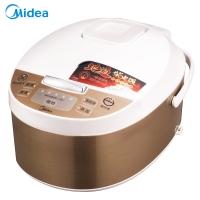 美的(Midea)電飯煲4L智能預約家用保溫 黃晶內膽 10小時預約MB-FD4019A