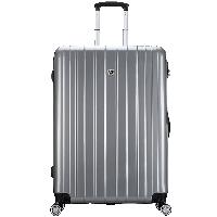 爱华仕(OIWAS)行李箱男女拉杆箱 时尚潮流旅行箱自营6182  密码锁飞机轮 28英寸灰色