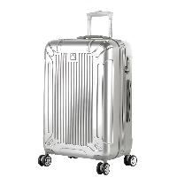 外交官(Diplomat)镜面扩充层箱子登机箱行李箱男女旅行箱万向轮拉杆箱密码箱TC-6012 20英寸 银色