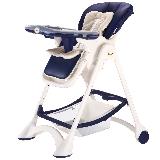 帛琦(Pouch)多功能儿童餐椅 婴儿餐椅 吃饭座椅 可坐可躺 K05藏青色【6-36个月】