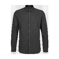 内敛的商务风,男式高端牦牛绒衬衫L:175/92A*蓝灰色