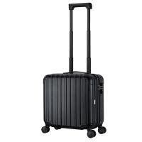 汉客(HANKE)防刮拉杆箱轻便万向轮男女商务旅行箱短途出差小行李箱子皮箱密码箱包登机箱 16英寸黑色升级版