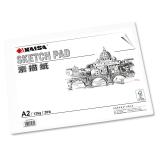 凯萨(KAISA)素描纸135g美术绘画纸铅画纸 A2(594*420mm) 20张/袋  KS-90319