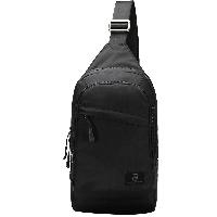 爱华仕(OIWAS)男女休闲胸包 健身户外骑行包 简约单肩包 55301黑色