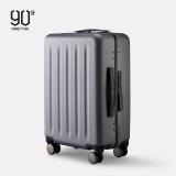 90分铝框拉杆箱24英寸 商旅两用行李箱 静音万向轮托运箱 轻质铝框旅行箱 星空灰