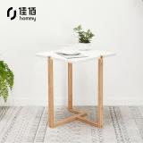 佳佰 小茶几 小茶桌 沙发边几边柜茶水置物架小方桌床头桌北欧咖啡桌40*40*50cm