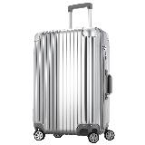 文森保罗(VinsonPaul)行李箱26英寸万向轮男女拉杆箱大容量旅行箱子 VP-161003辉煌银